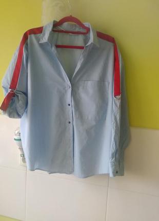 Рубашка с яркими лентами лампасами zara3 фото