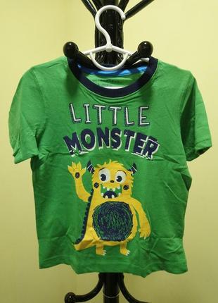 Зеленая хлопковая футболка pep&co