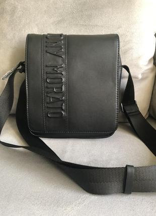 Новая чёрная мужская сумка от итальянского бренда antony morato {оригинал}