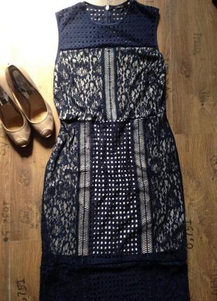 Шикарное кружевное платье next