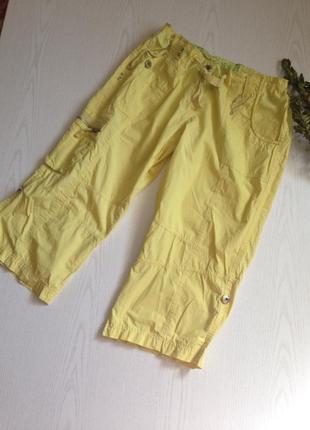 Легкие яркие капри бриджи штаны