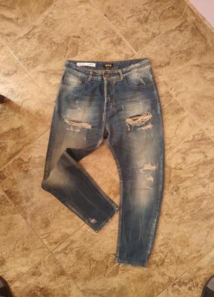Стильные джинсы бойфренд с высокой посадкой ex-j comfort