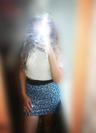 Леопардовая юбочка