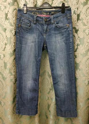 Классные фирменные джинсовые капри бриджи esprit германия
