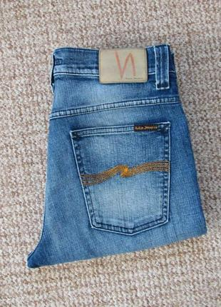 Nudie jeans grim tim джинсы made in italy оригинал (w32 l32) сост.идеал
