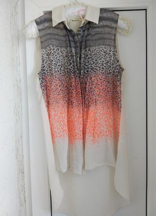 Легкая летняя шифоновая блуза блузка от warehouse