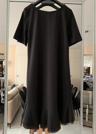 Чёрные платье с воланом twin-set