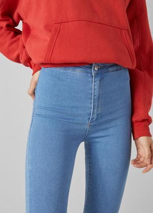 Jeggings голубые джинсовые леггинсы летние джинсы деним с высокой посадкой