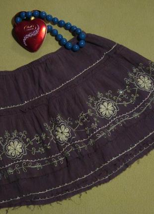 Легенька спідниця в стилі бохо юбка