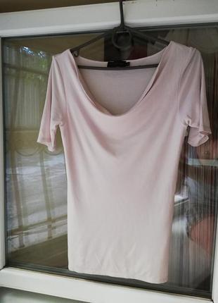 Шовкова блуза футболка modissa s-m