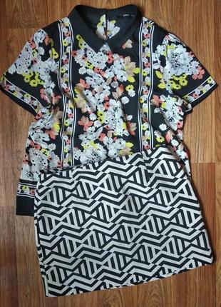 Очень красивая шифоновая блуза, размер хл