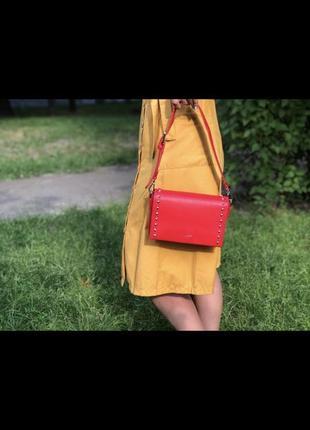 Стильная сумочка david jones 5822-1t red красная