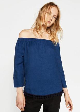 Льняная блуза zara