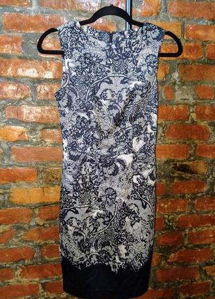 Облегающее по фигуре платье чехол футляр из коттона warehouse