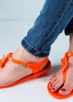 Силиконовые яркие босоножки/сандалии. размер 39