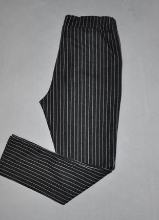 Трикотажные брюки в полоску