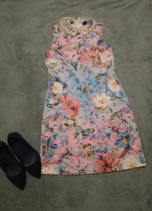 76 цветочное платье