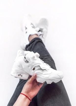 Стильные женские кроссовки insta pump в белом цвете  (весна-лето-осень)😍