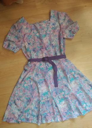 Красивое платье под пояс