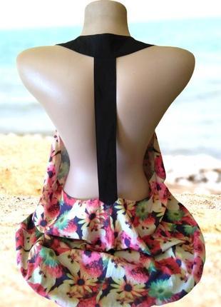 Летний сарафан в цветы bay с открытой спиной