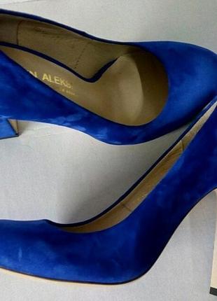Велюровые кожаные туфли