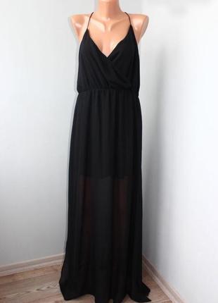 Платье в пол шифон