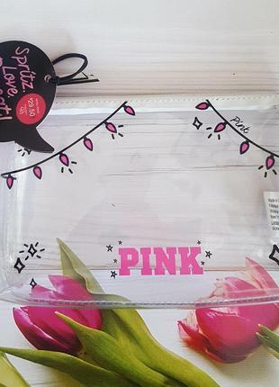 Прозрачная косметичка   от victoria's secret pink