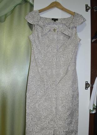78 белобежевое буклированное платье
