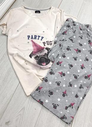Хлопковая пижамка штанами