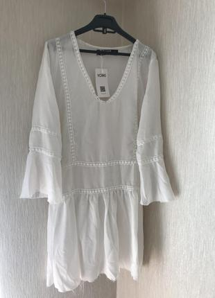 Легкое летнее белое платье новое