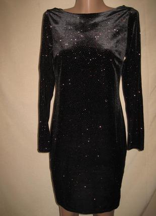 Велюровое платье с люрексом дороти перкинс р-р10