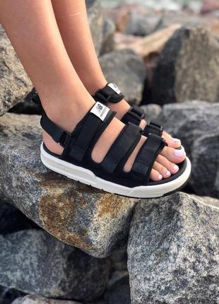 Стильные женские сандалии в черном цвете new balance (весна-лето-осень)😍