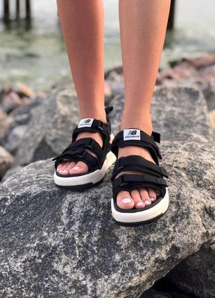 Стильные женские сандалии в черном цвете new balance (весна-лето-осень)😍2 фото