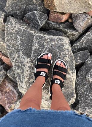 Стильные женские сандалии в черном цвете new balance (весна-лето-осень)😍3 фото