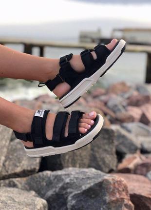 Стильные женские сандалии в черном цвете new balance (весна-лето-осень)😍5 фото