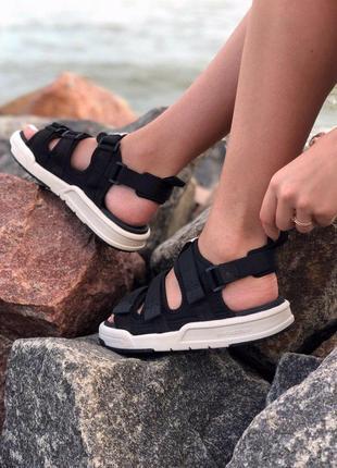 Стильные женские сандалии в черном цвете new balance (весна-лето-осень)😍6 фото