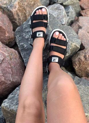Стильные женские сандалии в черном цвете new balance (весна-лето-осень)😍7 фото