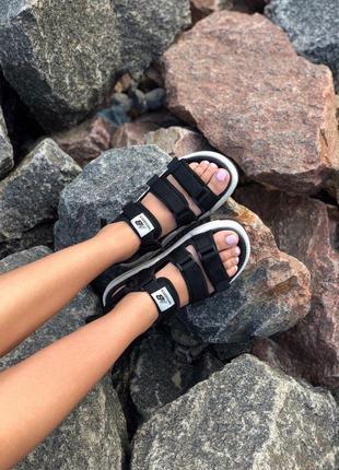 Стильные женские сандалии в черном цвете new balance (весна-лето-осень)😍8 фото