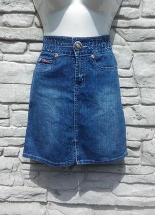 Стильная,джинсовая юбочка