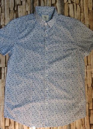 Рубашка мужская cedarwood state с коротким рукавом и цветочным принтом