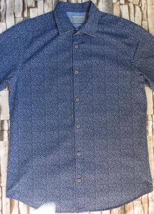 Летняя мужская рубашка с коротким рукавом tu размер s