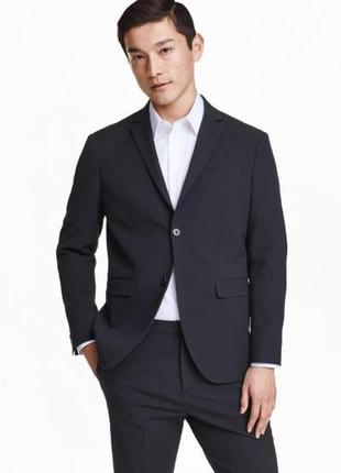 Оригинальный пиджак из жатого крепа от бренда h&m  разм. 48