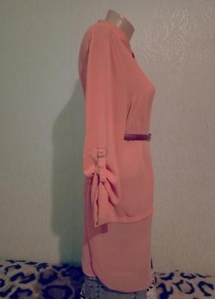 Розпродаж одного дня!😉пeрсикова блуза з цікавим низом😍