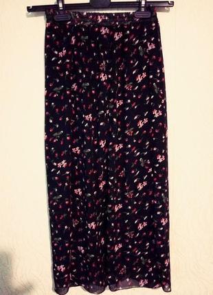 Розпродаж одного дня!шифонова юбка з квітковим принтом🌷