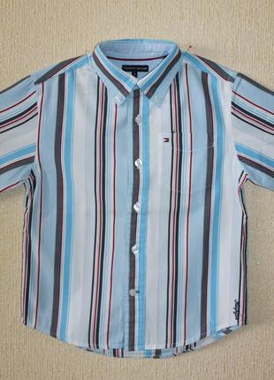 Фирменная стильная рубашка tommy hilfiger для мальчика