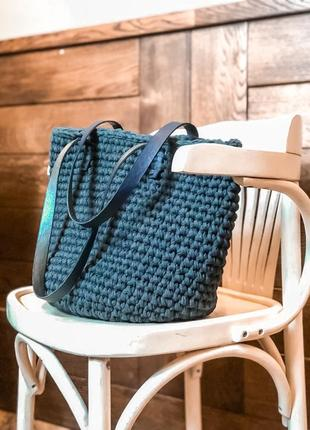 Плетёная сумка-шопер