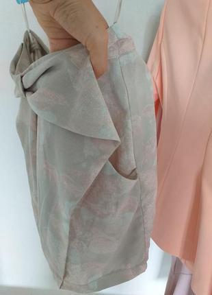 Пепельная летняя юбка с карманами