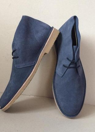 Обалденные замшевые фирменные ботинки стелька 27 см