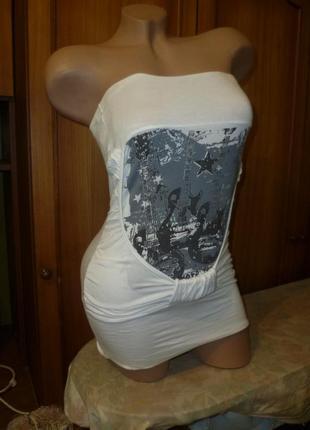 Стильная качественная летняя майка-топ(бюстье,футболка) интересного покроя,трикотажная