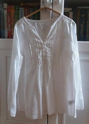 Оригинал блузка туника 100% лен m&s